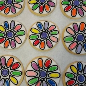 Girl Flower Cookies