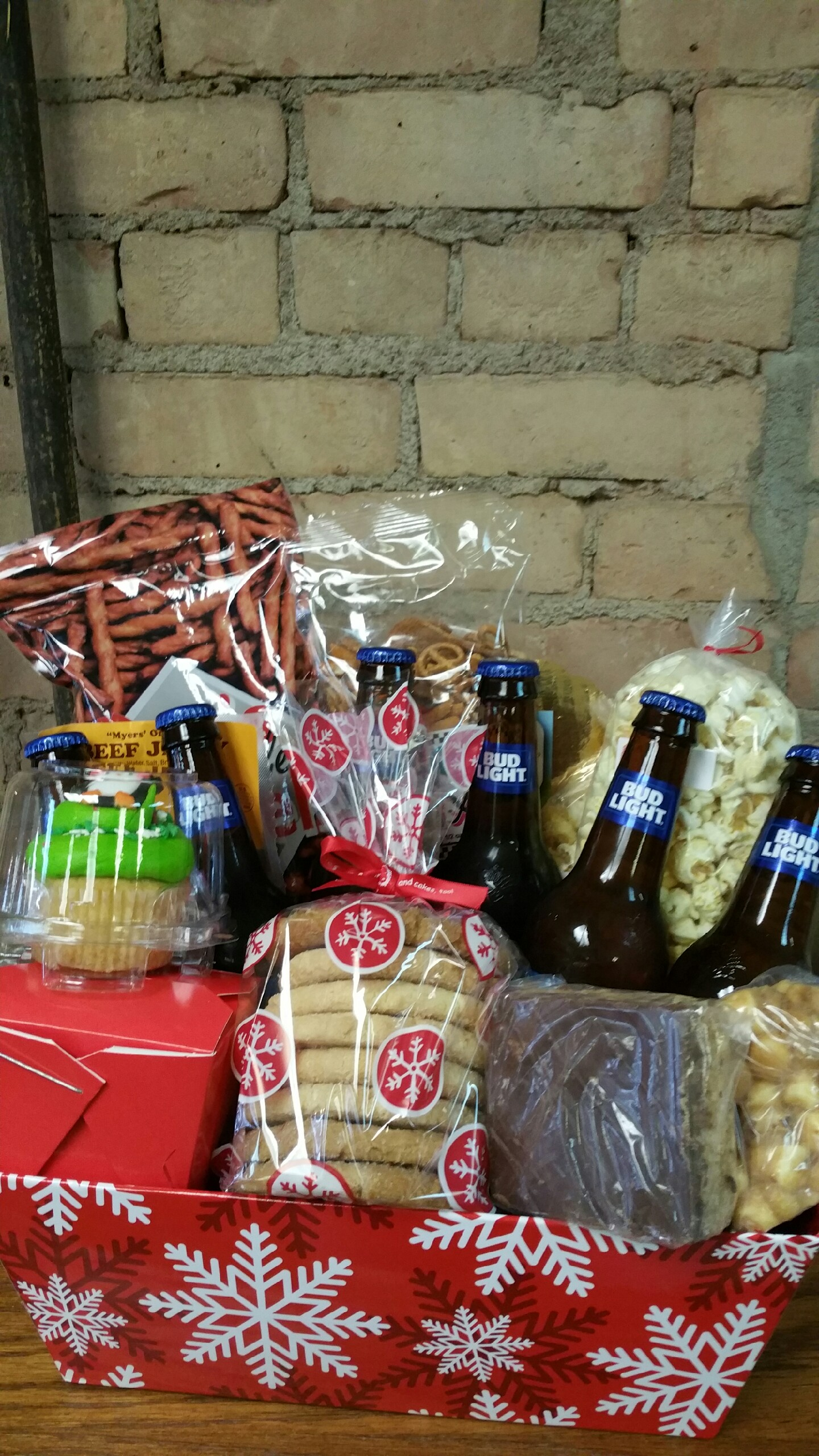 Christmas Beer Basket