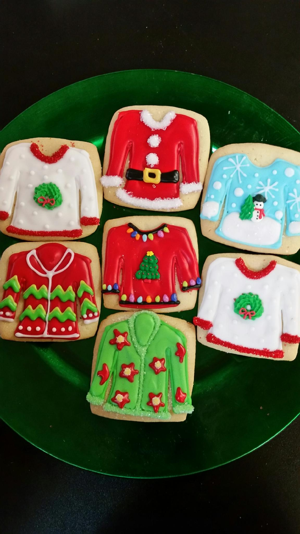 Assorted Christmas Ugly Sweater Decorated Cookies