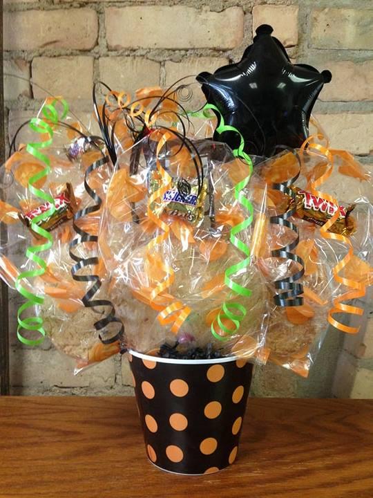 Black and Orange Polka Dot Melamine Cookie Bouquet