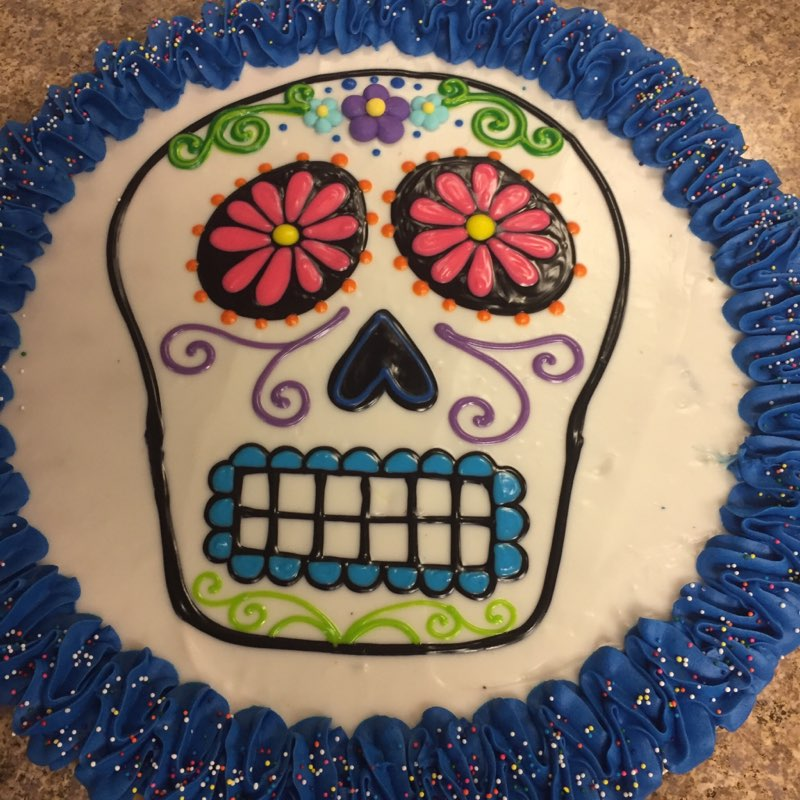 Sugar Skull Cookie Pizza
