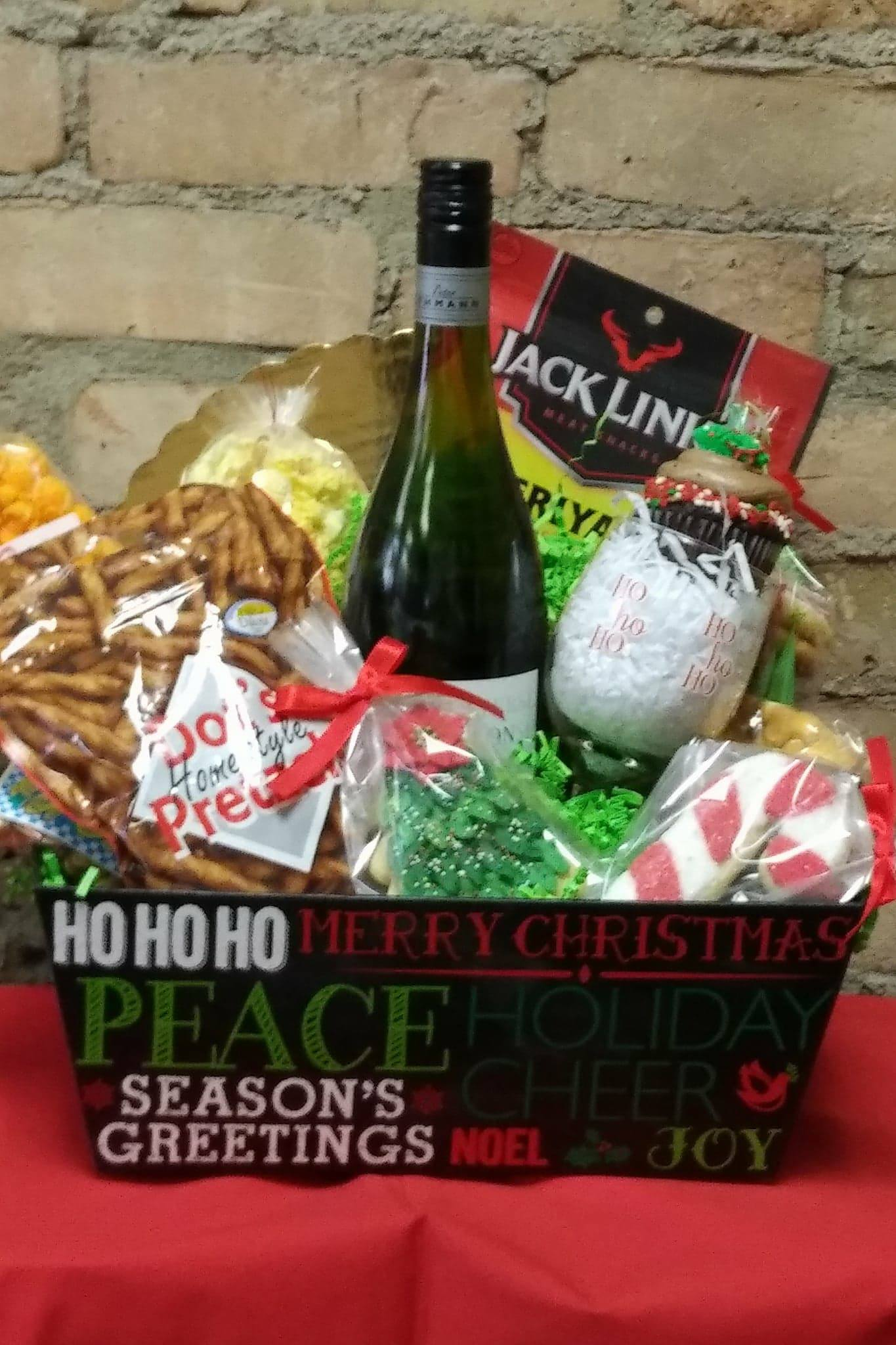 Christmas Wine Basket
