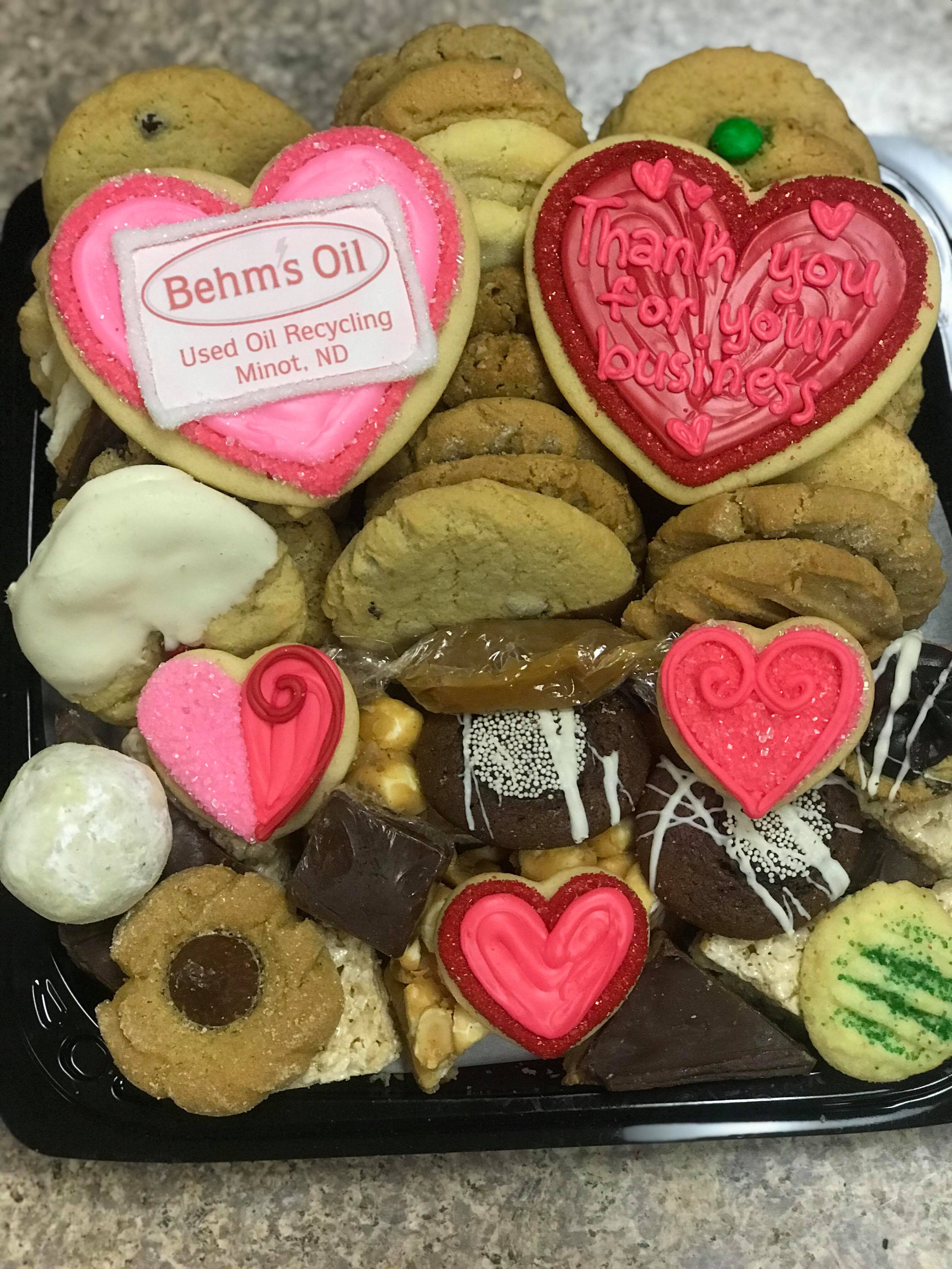 Business Logo Thank You Sweets Tray