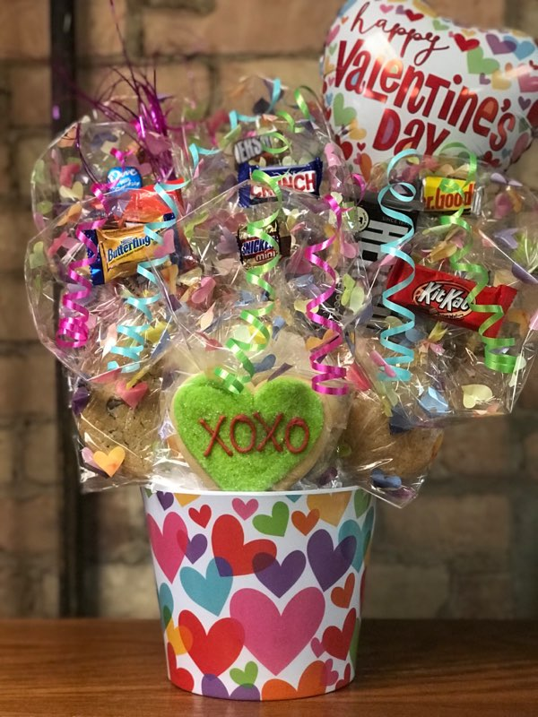 Pastel Heart Melamine Cookie Bouquet