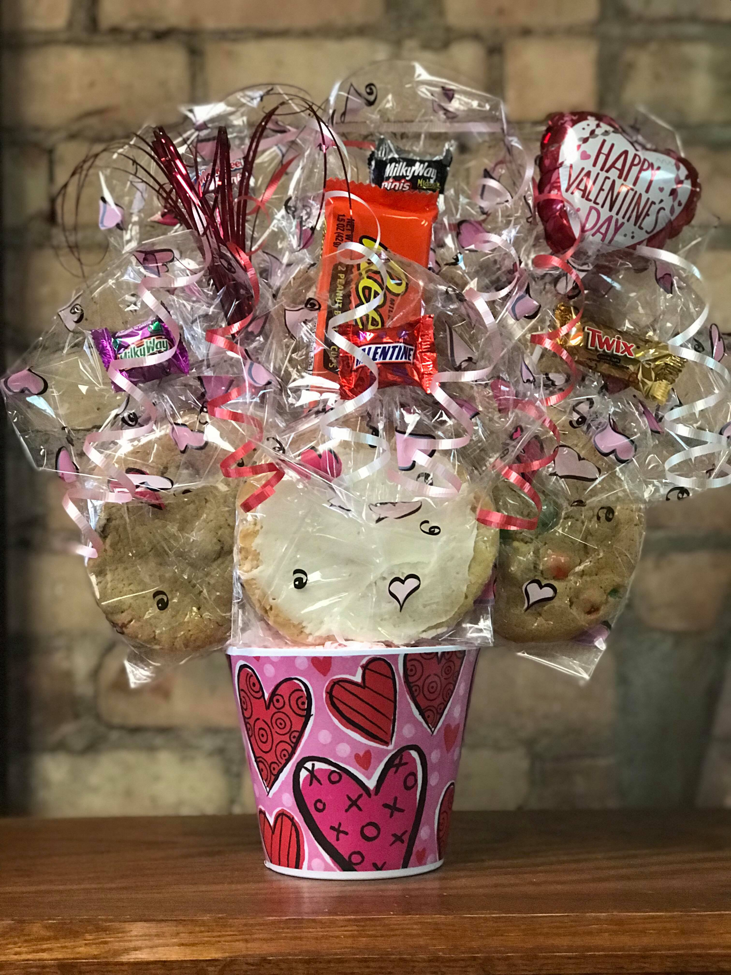Red & Pink Hearts Melamine Cookie Bouquet