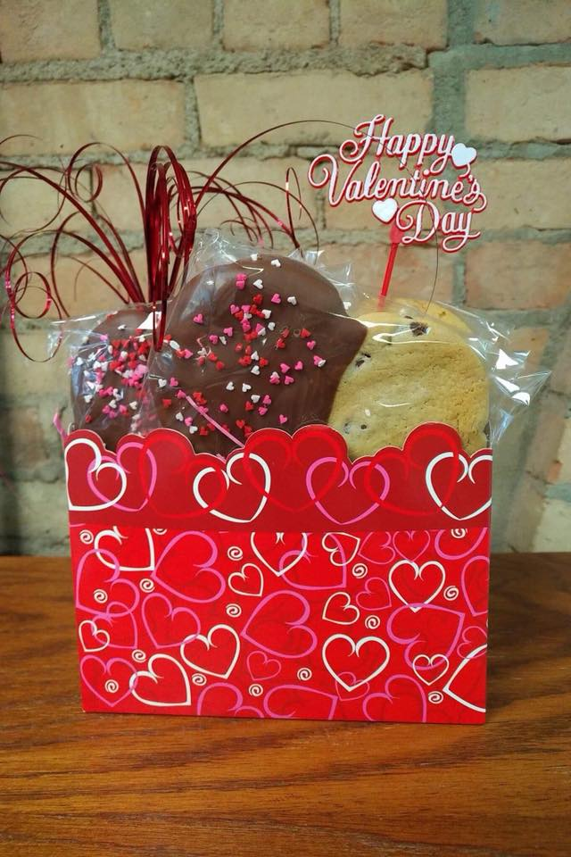 Large Heart Shaped Chocolate Chip Cookies in Box