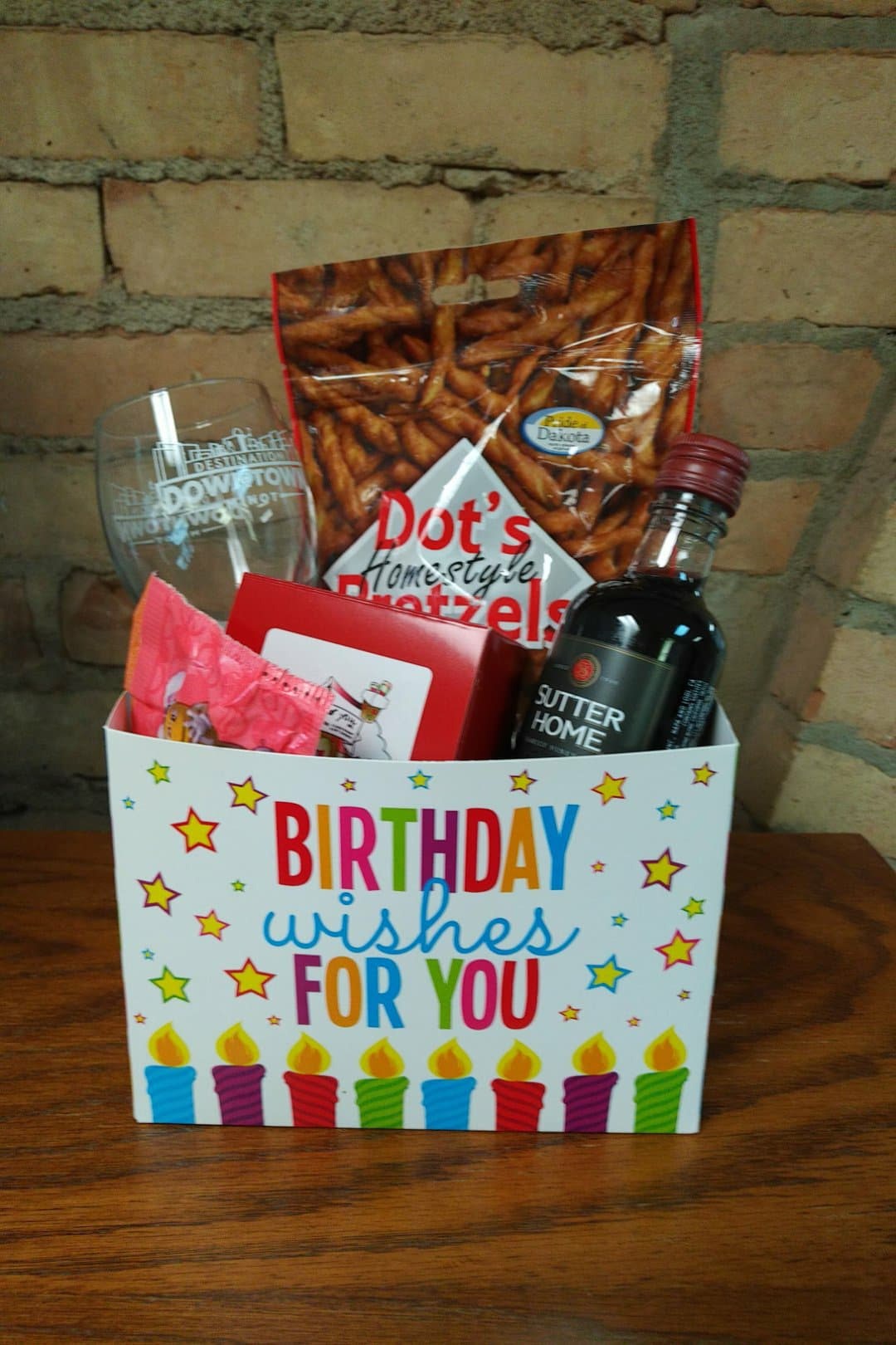 Adult Happy Birthday Basket