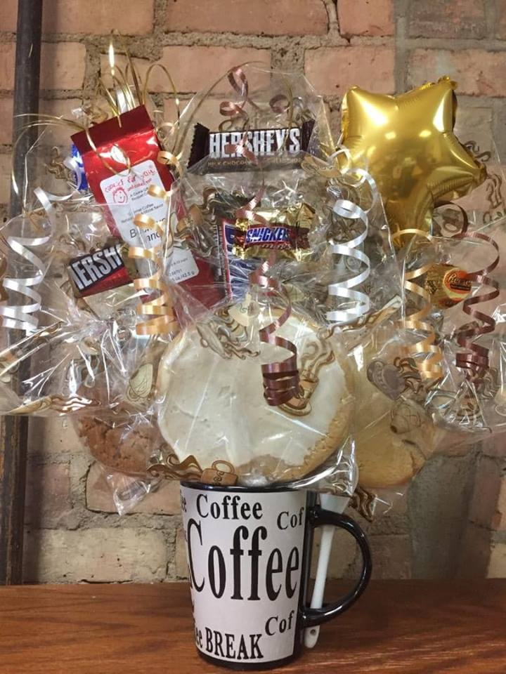 Coffee Lover's Mug Cookie Bouquet
