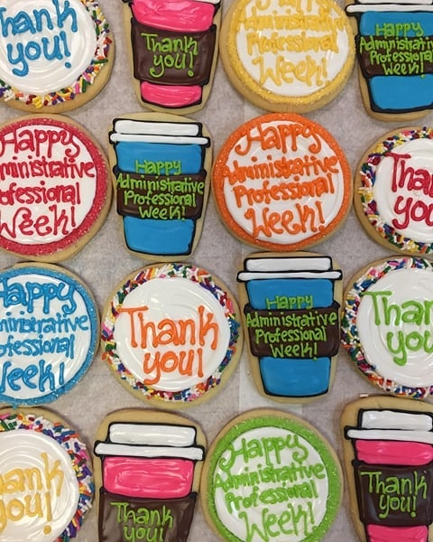 Assorted Administrative Professional's Week Decorated Cookies