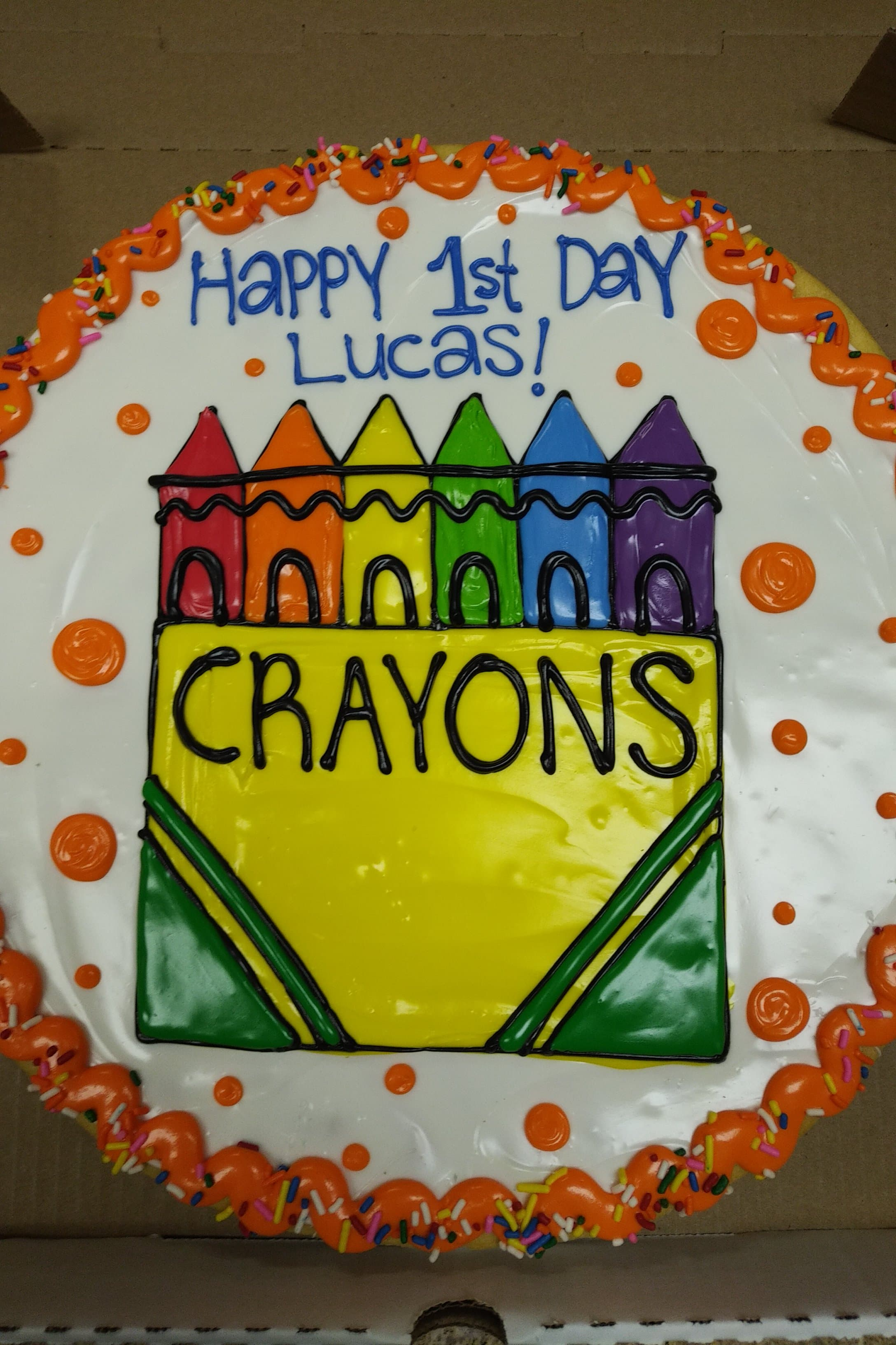 Crayon Cookie Pizza