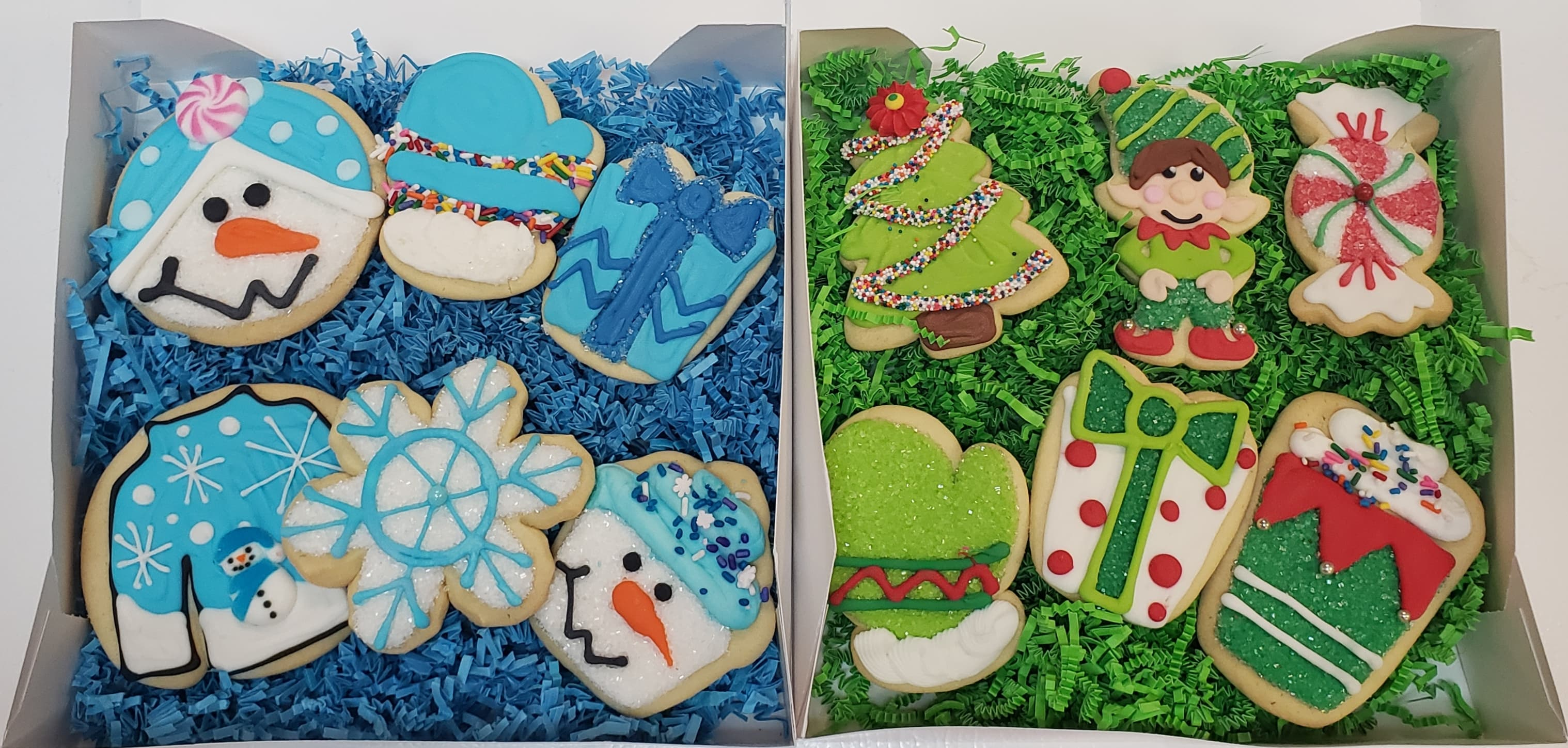 Assorted Christmas Decorated Cookie Gift Box