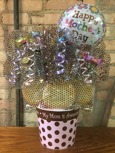 """My Mom is Awesome"" Melamine Cookie Bouquet"