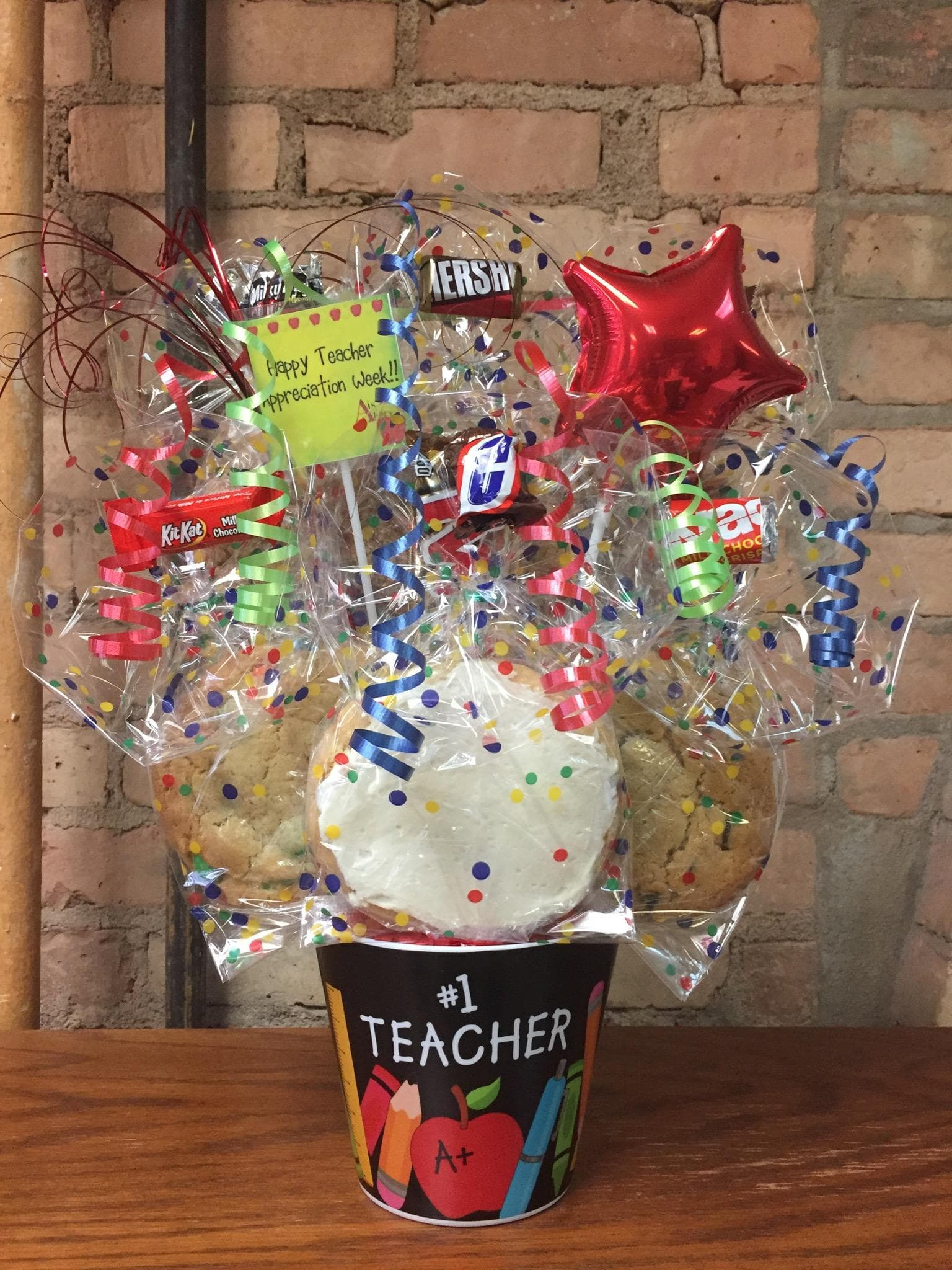 #1 Teacher Melamine Cookie Bouquet
