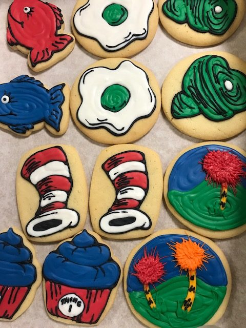Dr. Suess Decorated Cookies