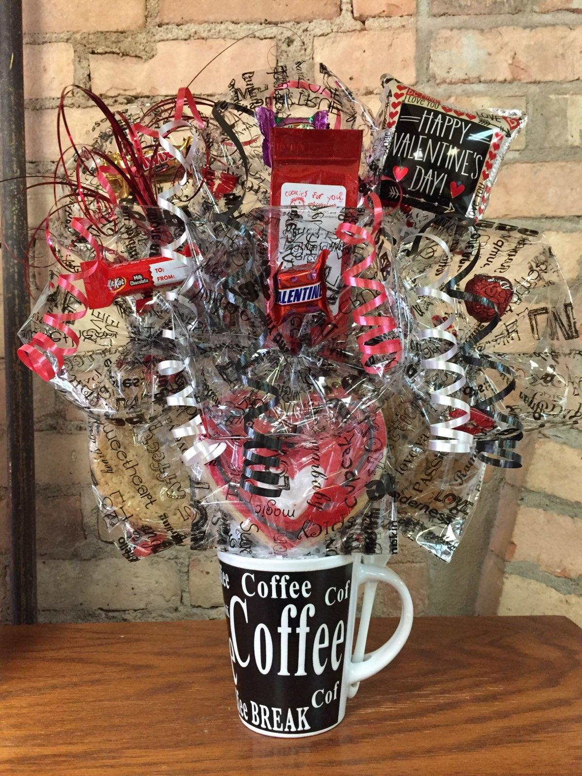 Valentine Coffee Mug Bouquet with Signature Coffee