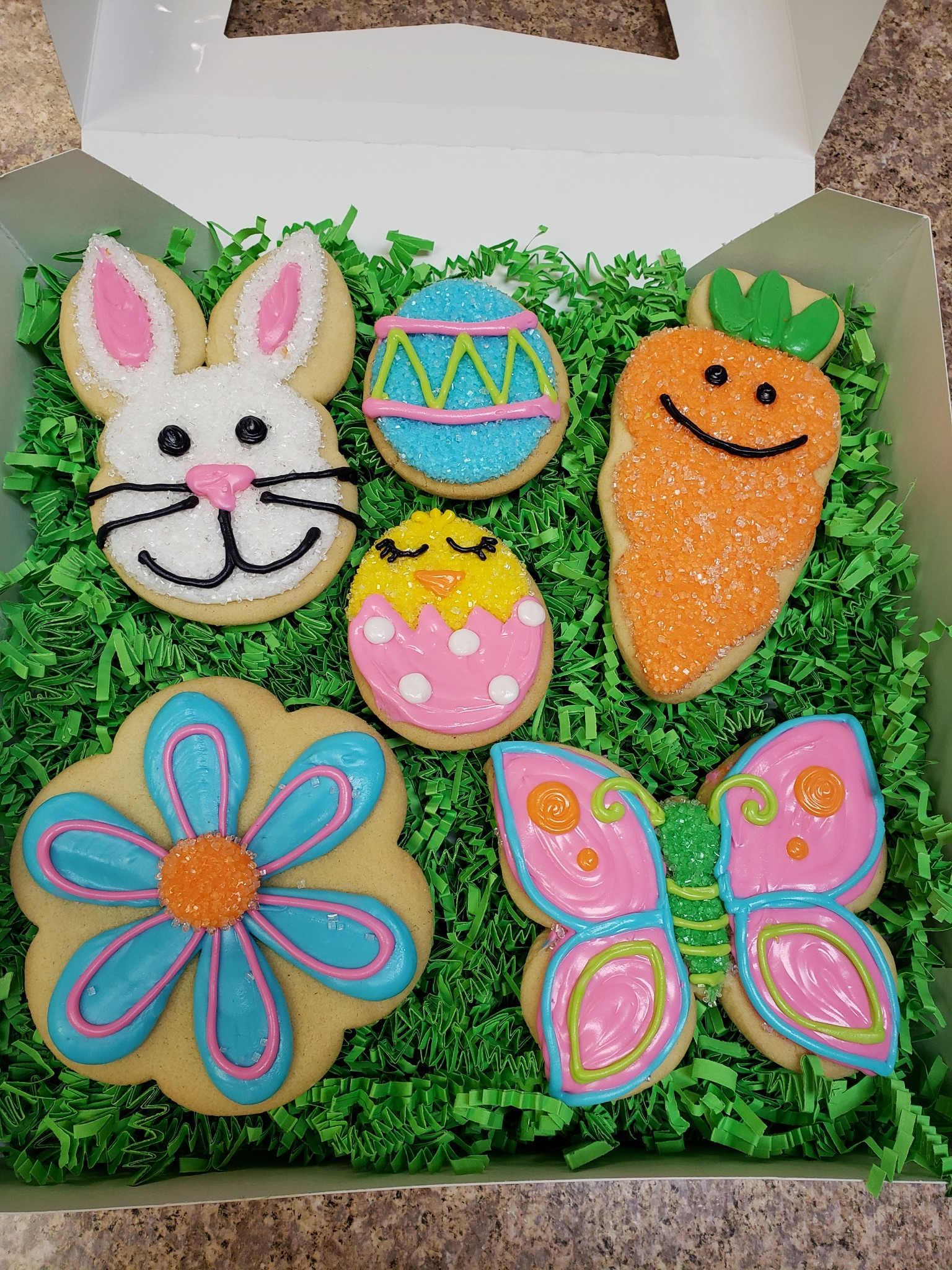 Easter Cutouts in a Gift Box