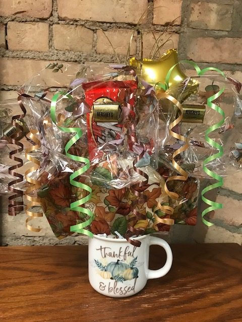 Thankful and Blessed Mug Bouquet