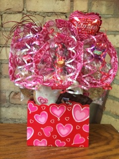 Ombre Heart Diecut Box Cookie Bouquet