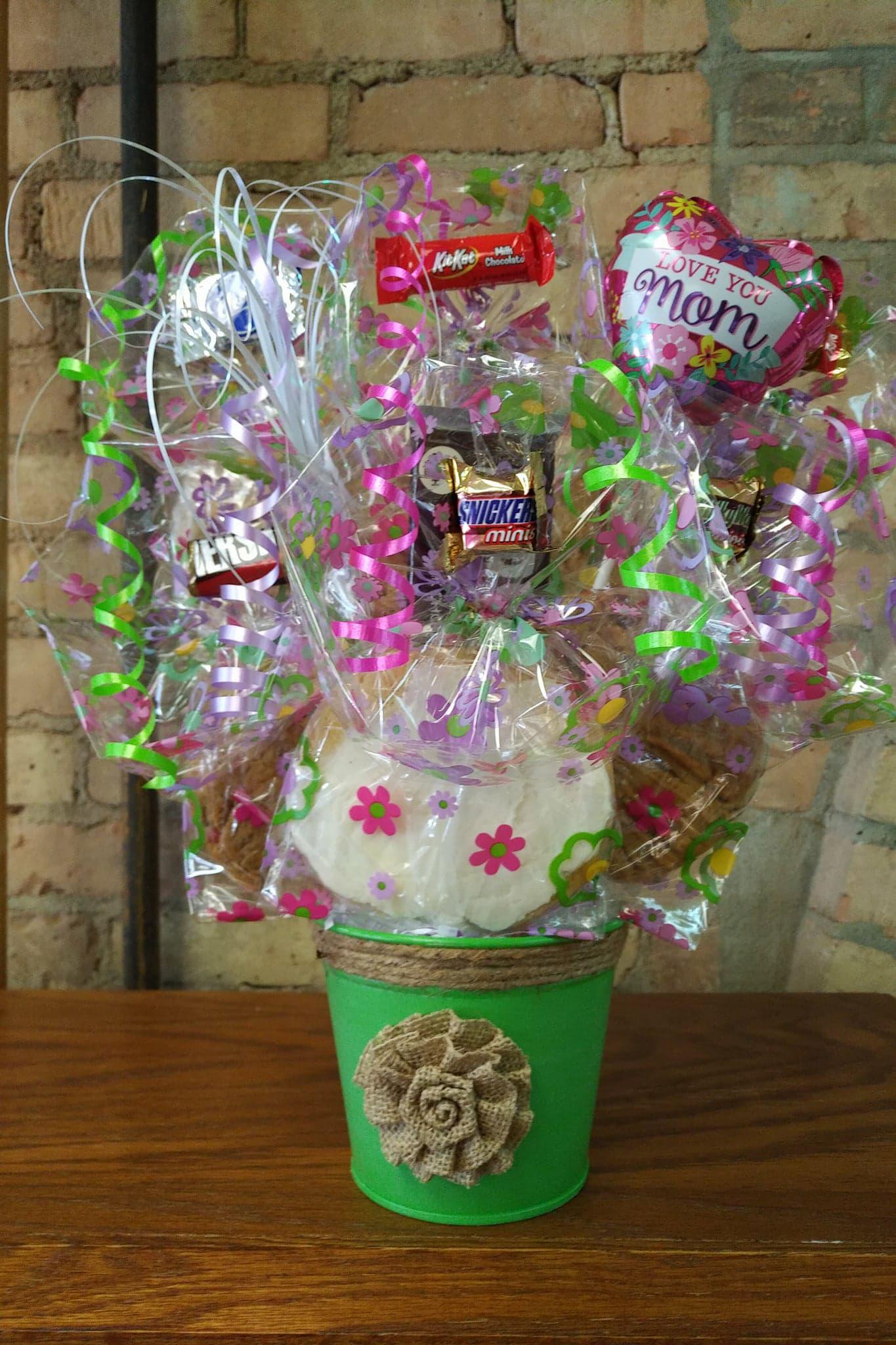 Burlap Planter Cookie Bouquet