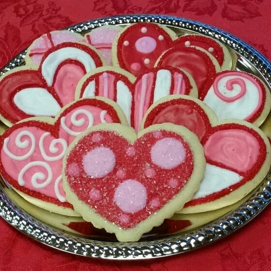 Detailed Decorated Valentine Cookies