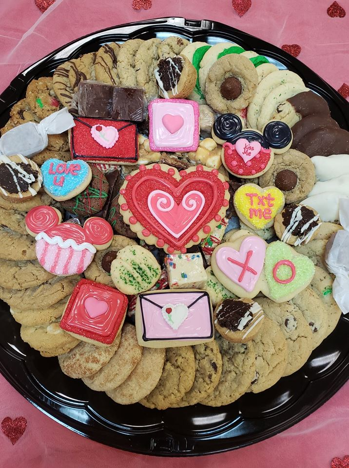 Valentine's Day Sweets Tray with Mini Cutouts