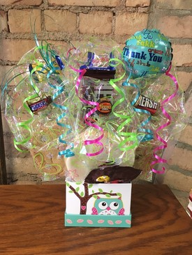 Thank You Owl Box Cookie Bouquet
