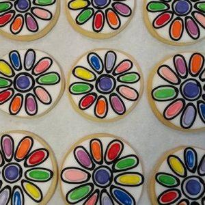 Girl Flower Cookies