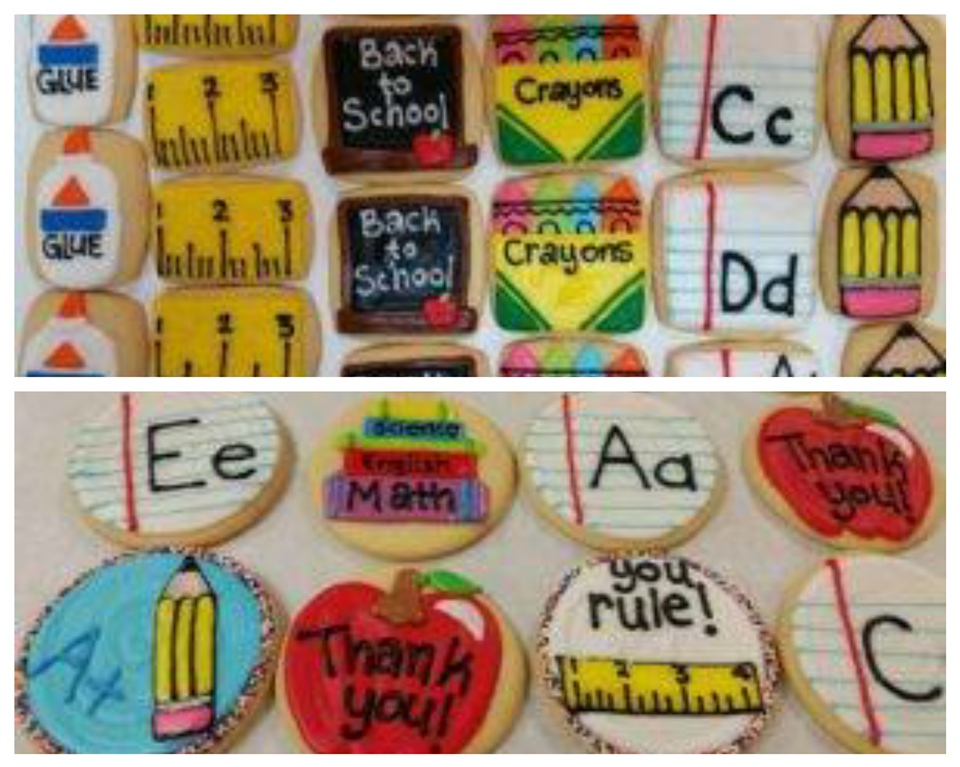 Assorted School Cookies