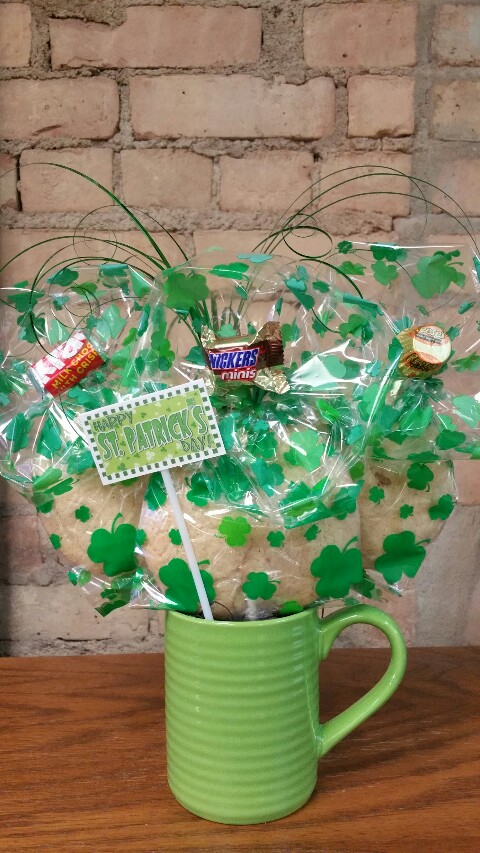 Green St. Patrick's Day Mug Bouquet