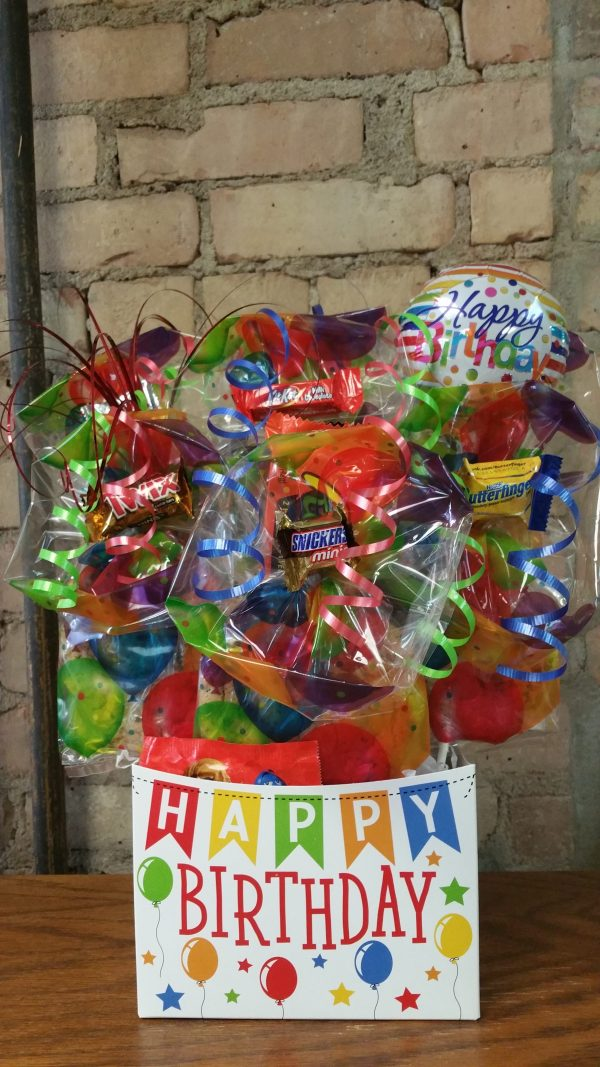 Happy Birthday Banner Box Bouquet