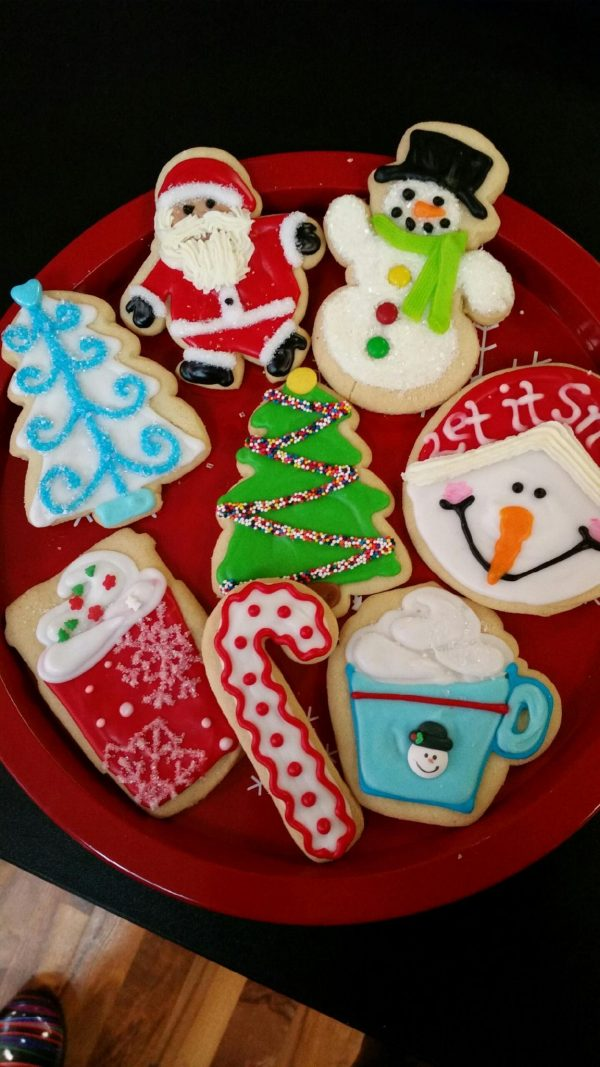 Assorted Christmas Decorated Cookies
