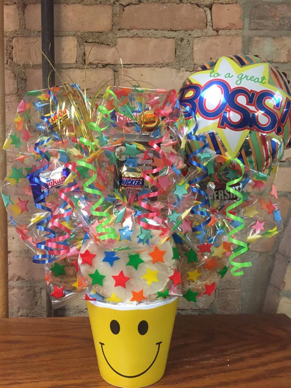 Boss's Day Smiley Face Melamine Bouquet
