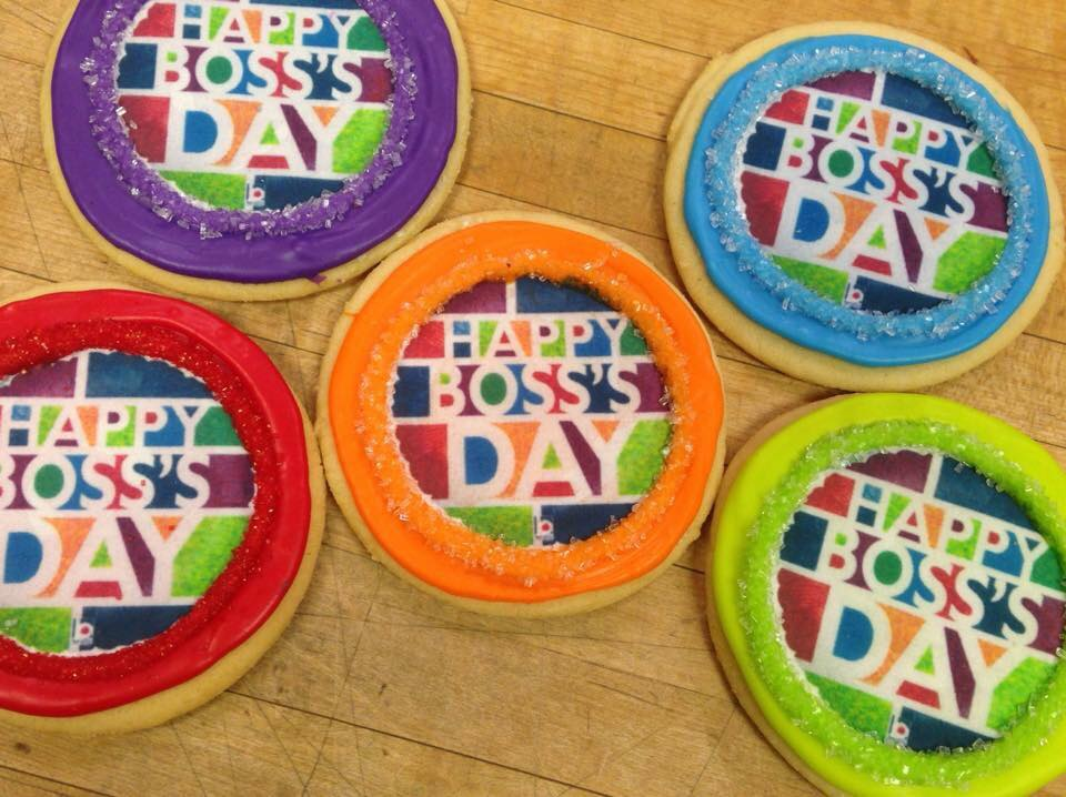 Boss's Day Logo Cookies