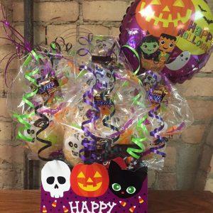 Purple Halloween Diecut Box Cookie Bouquet