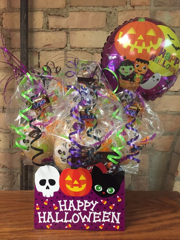 Purple Halloween Diecut Box Cookie Bouquet