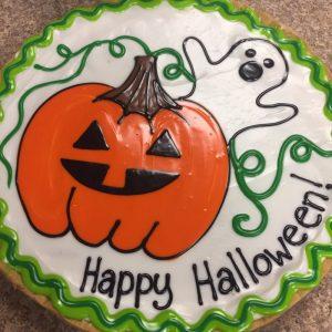 Pumpkin & Ghost Cookie Pizza