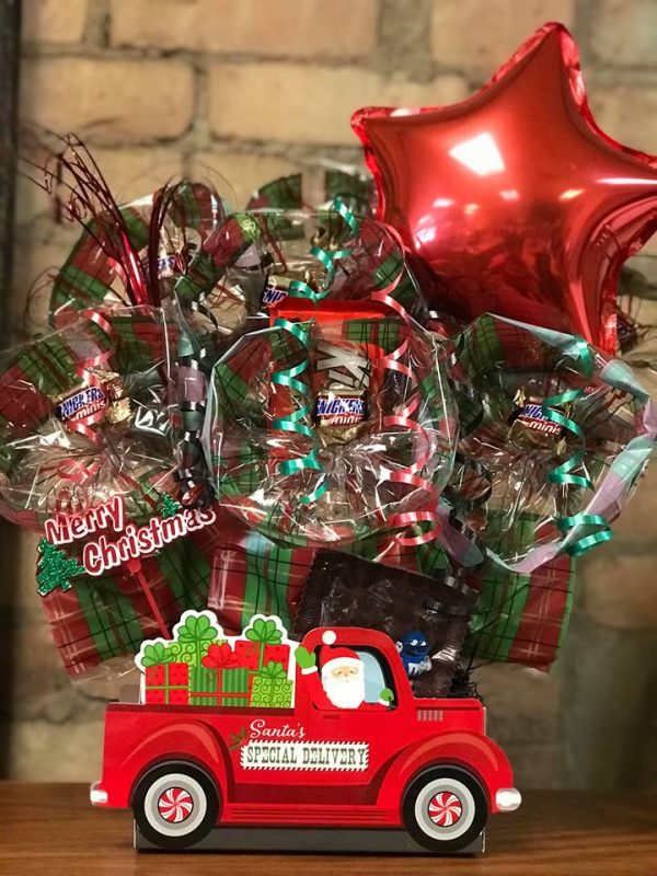 Santa's Delivery Truck Cookie Bouquet