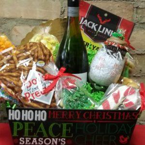 Christmas Wine Basket