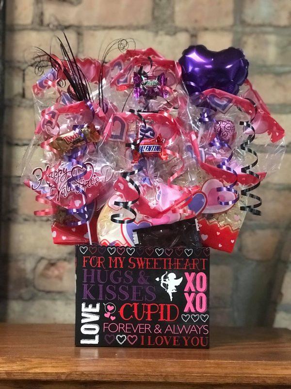 Hugs & Kisses Diecut Box Cookie Bouquet