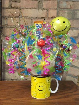Smiley Face Mug Bouquet