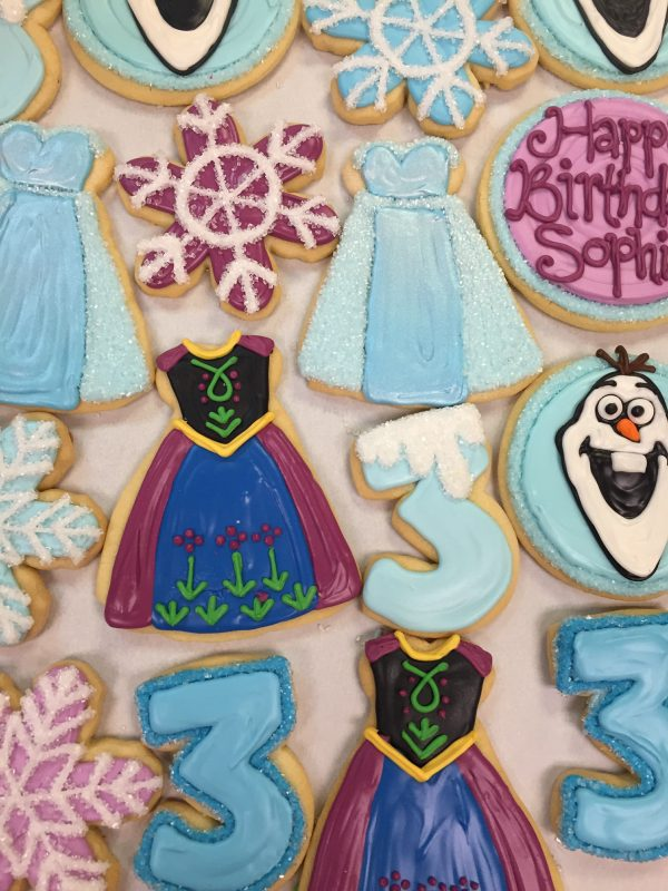 Assorted Winter Themed Cookies