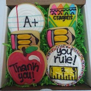 Half Dozen Teachers Decorated Cookies