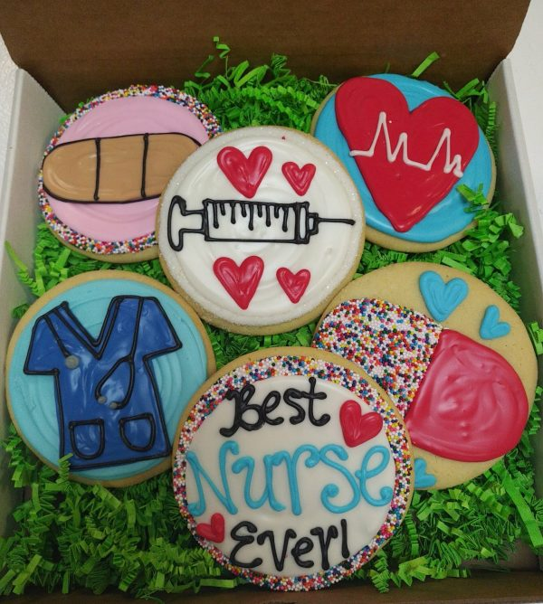 Half Dozen Nurse Decorated Cookies