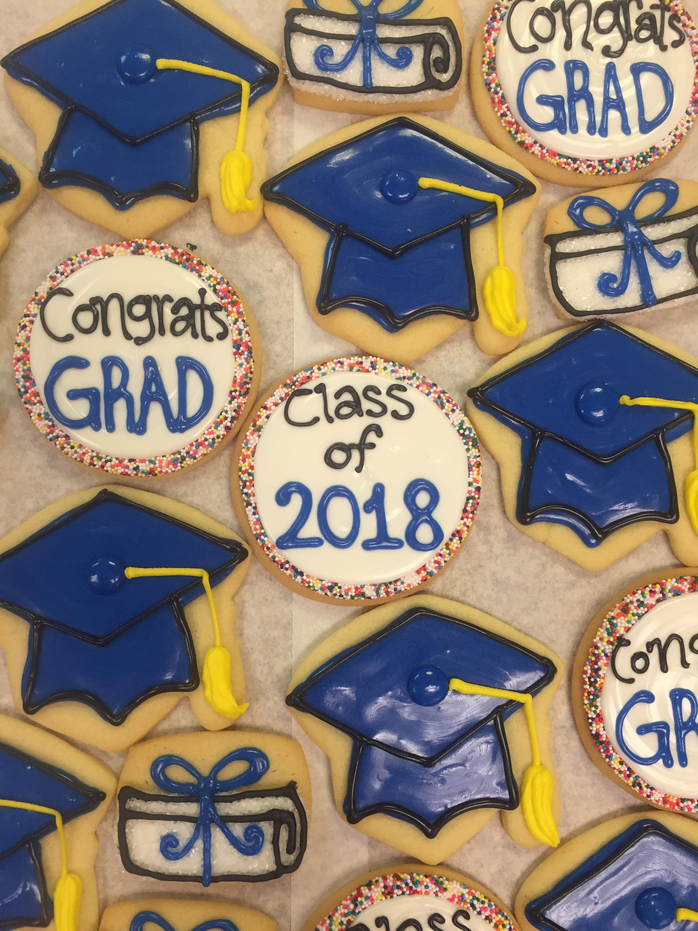Assorted Graduation Decorated Cookies