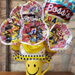 Boss's Day Smiley Mug Cookie Bouquet