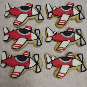 Airplane Decorated Cookies
