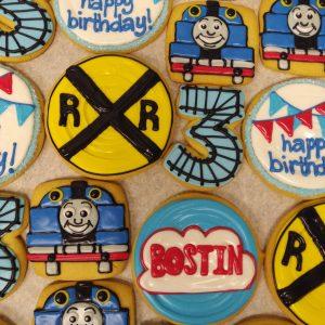 Assorted Train Cookies