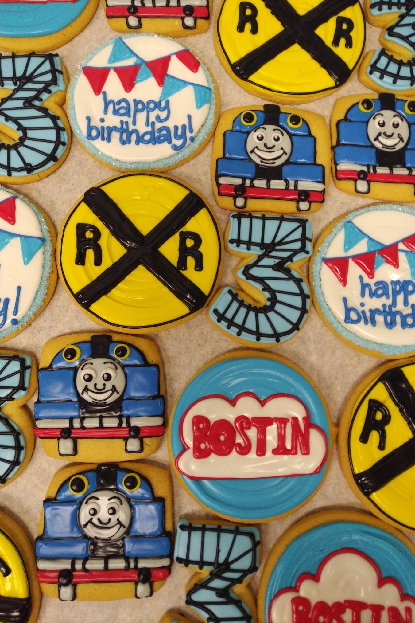 Assorted Train Cookies