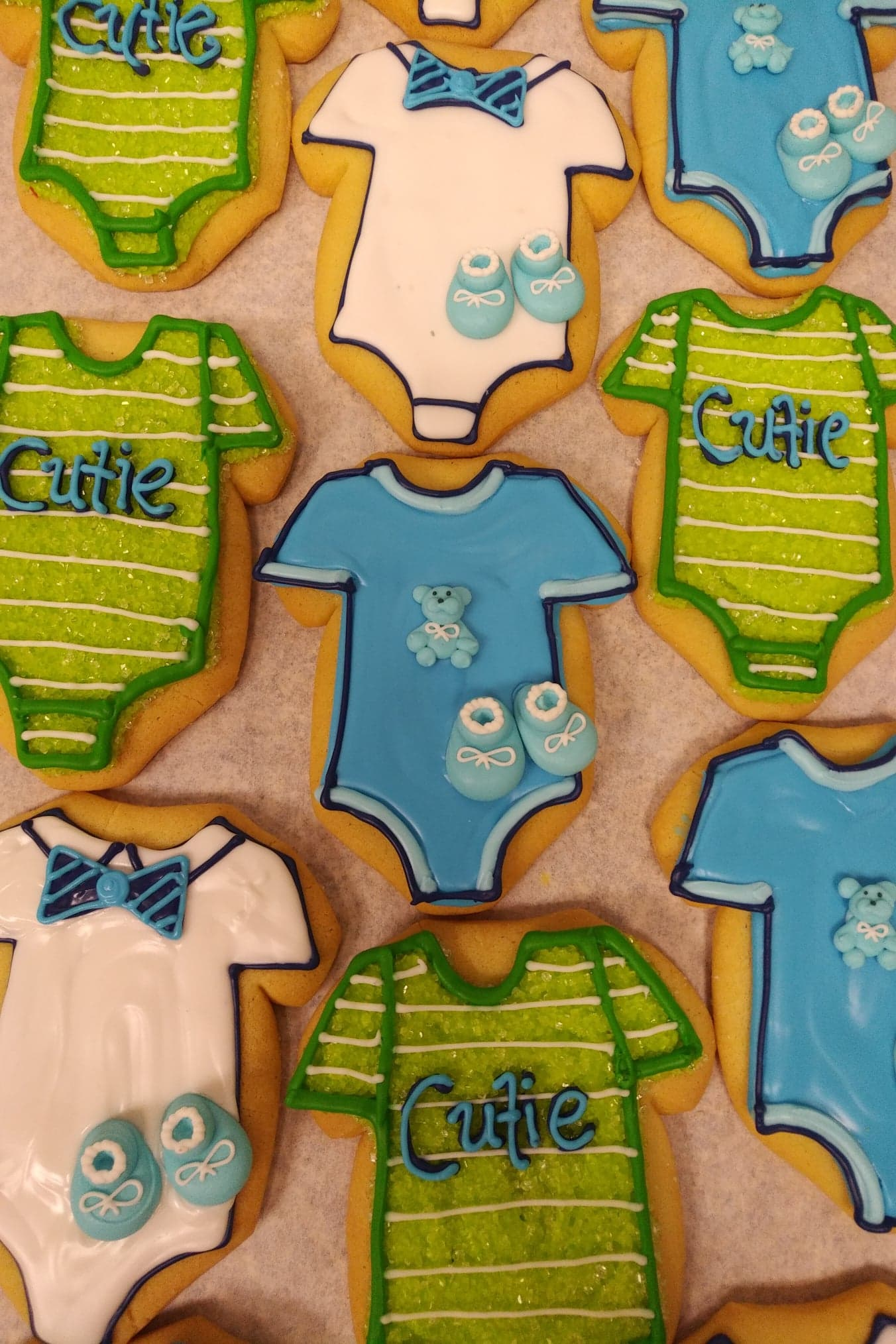 Assorted Baby Onesie Cookies