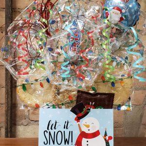 """""""Let It Snow"""" Snowman Diecut Box Cookie Bouquet"""